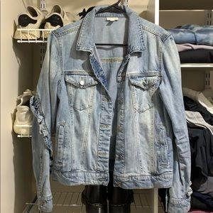 BP ruffled jean jacket